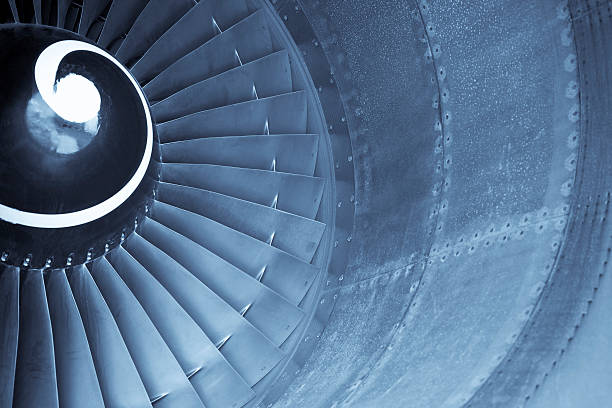 Aircraft jet engine turbine Aircraft jet engine turbine turbine stock pictures, royalty-free photos & images