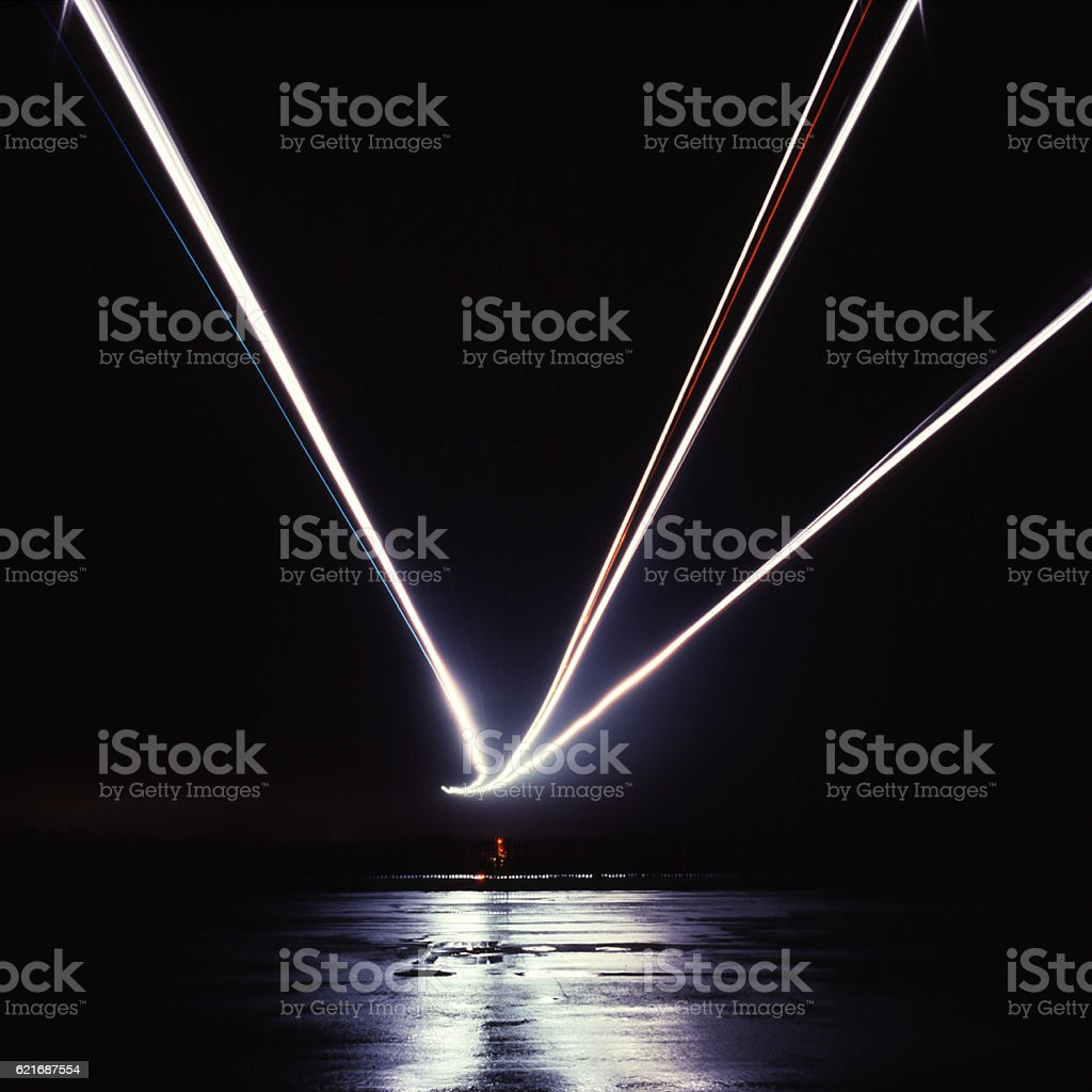 Aircraft Landing Lights 2 Stock Photo & More Pictures of Air Vehicle