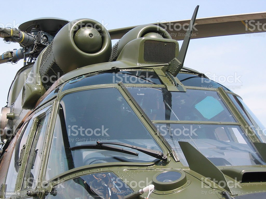 Aircraft - Military helicopter closeup stock photo