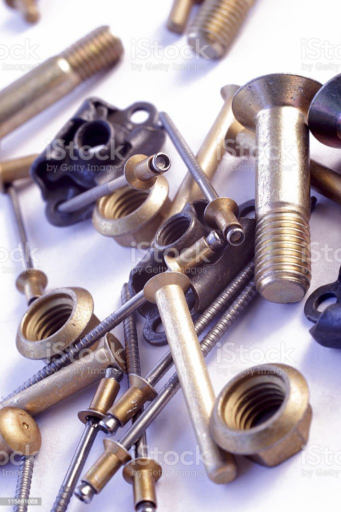 aircraft nuts and bolts royalty-free stock photo