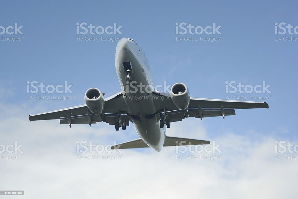 Aircraft on Landing Approach royalty-free stock photo