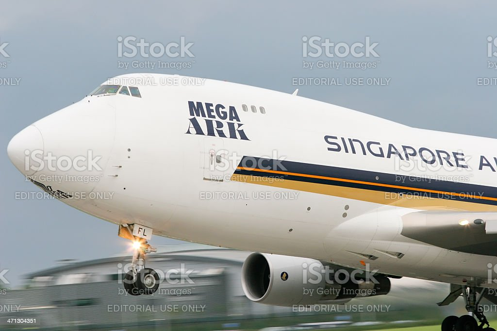 Aircraft On Take Off stock photo