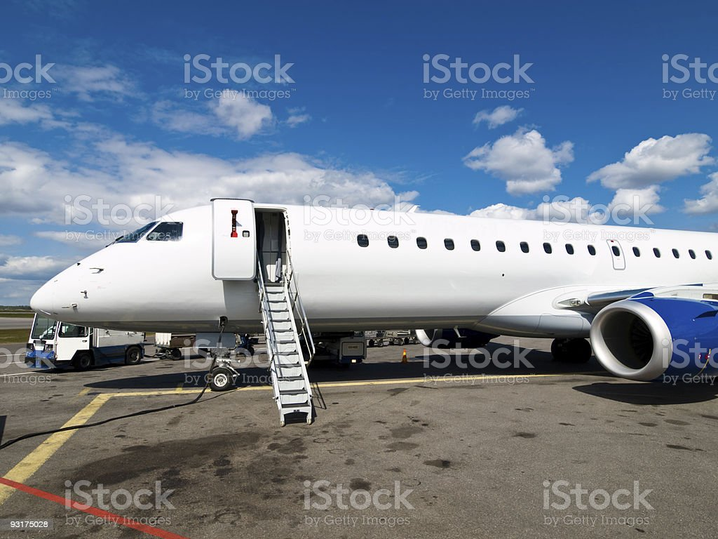 Aircraft on the Runway royalty-free stock photo