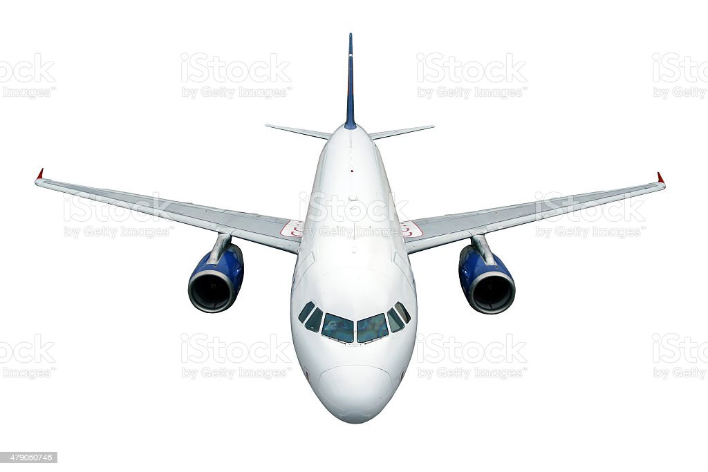 Aircraft on white background stock photo