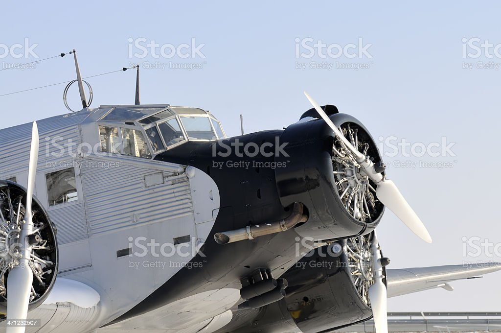 JU 52 aircraft royalty-free stock photo
