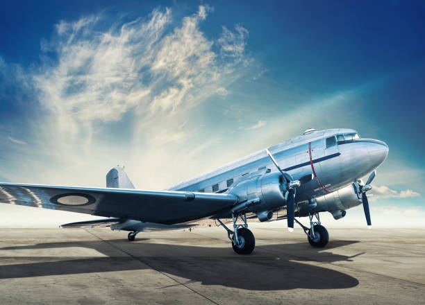 aircraft historical aircraft on an airfiled propeller stock pictures, royalty-free photos & images