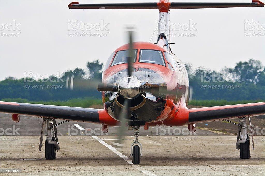 Aircraft Pilatus PC-1247E. royalty-free stock photo