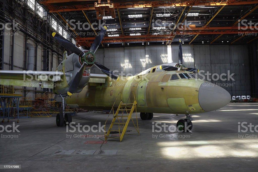 Aircraft production stock photo