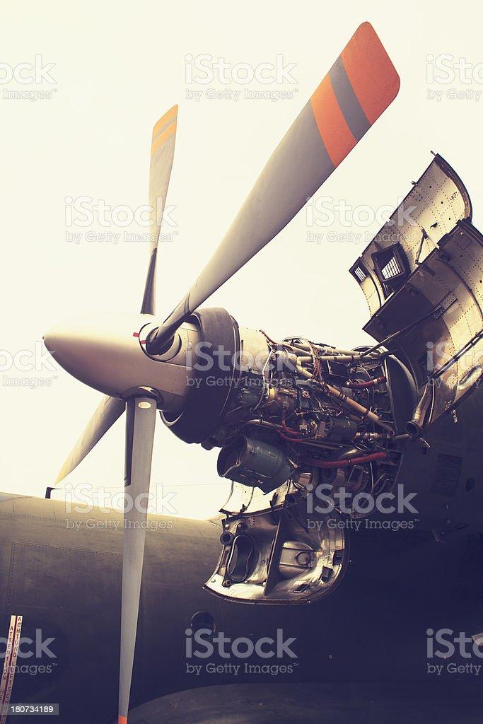 Aircraft Propellor Power stock photo