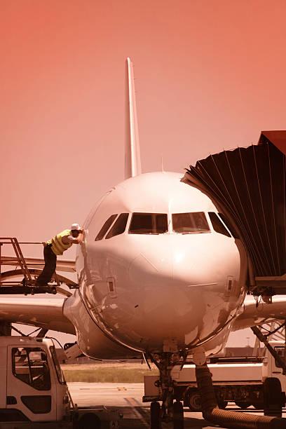 Aircraft ready series stock photo