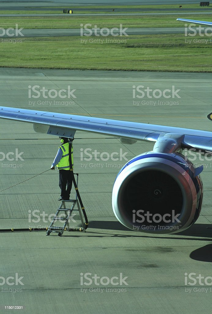Aircraft Refueller royalty-free stock photo