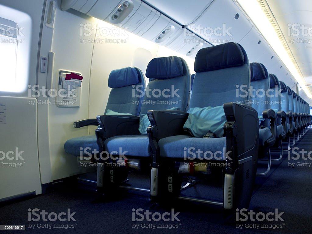 Aircraft Seats stock photo
