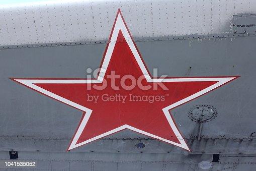 istock Aircraft skin texture 1041535052
