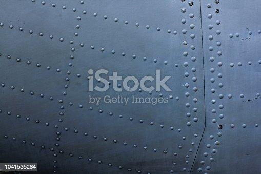 istock Aircraft skin texture 1041535264