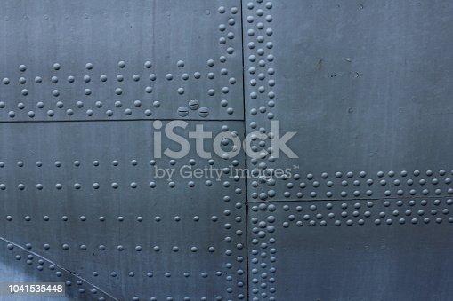 istock Aircraft skin texture 1041535448