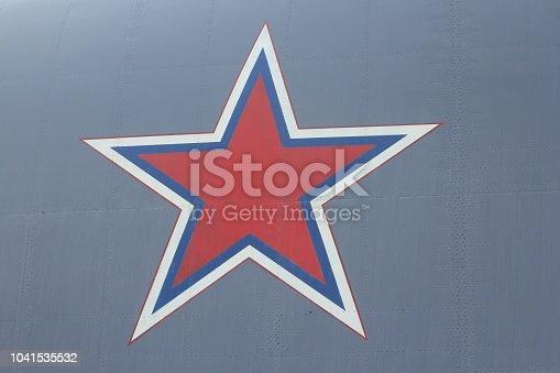 istock Aircraft skin texture 1041535532