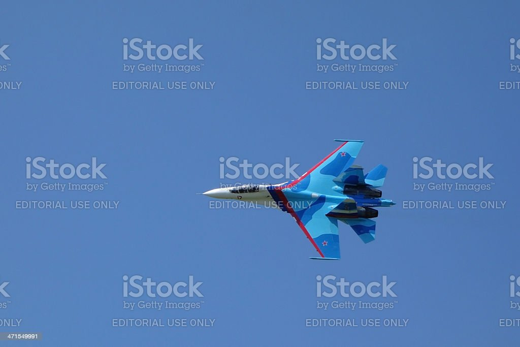 Aircraft Su-27 (Flanker) royalty-free stock photo