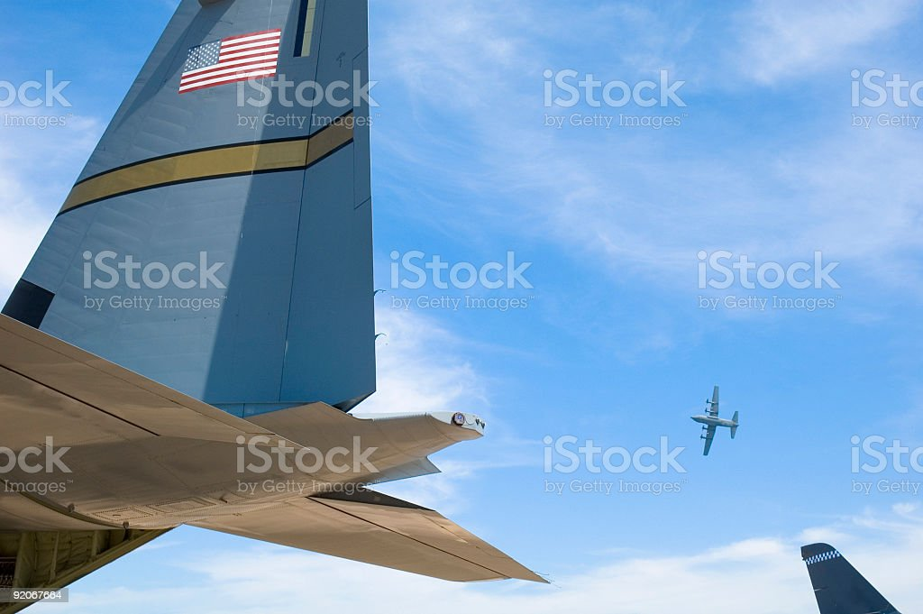Aircraft tails royalty-free stock photo