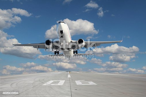 istock Aircraft taking off 468903894