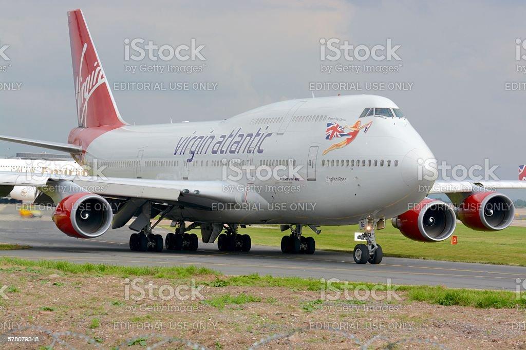 Aircraft Taxiing stock photo
