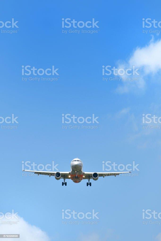 Aircraft to land royalty-free stock photo
