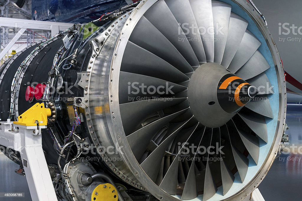 Aircraft Turbine stock photo