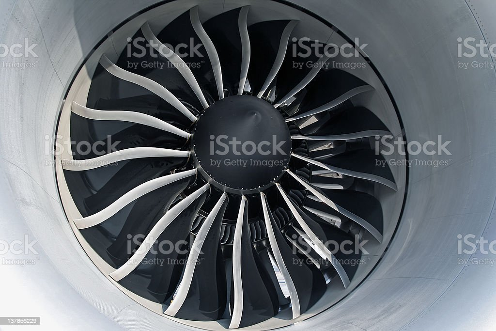 Aircraft Turbofan Engine stock photo
