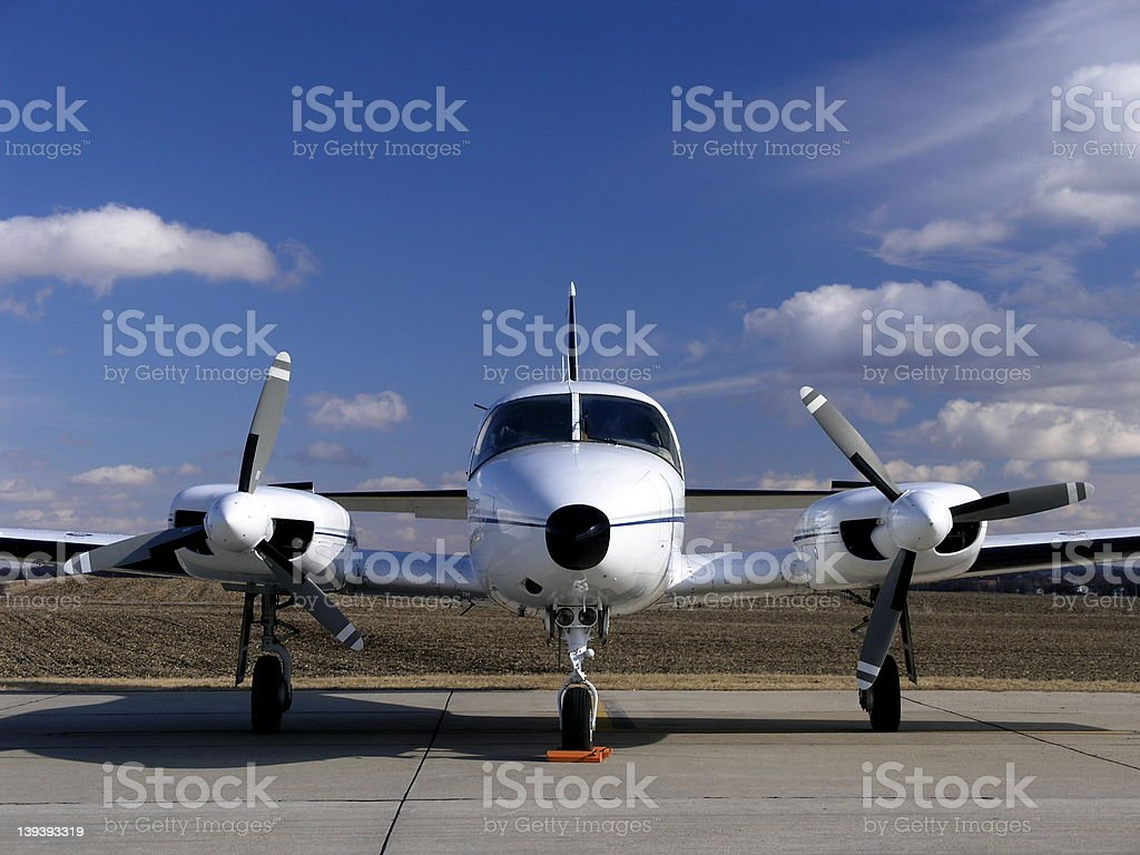 Aircraft - Twin Engine royalty-free stock photo