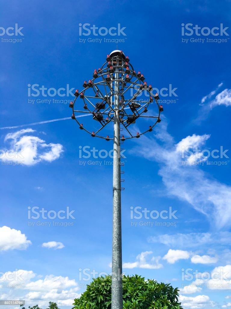 Aircraft Warning Lights royalty-free stock photo