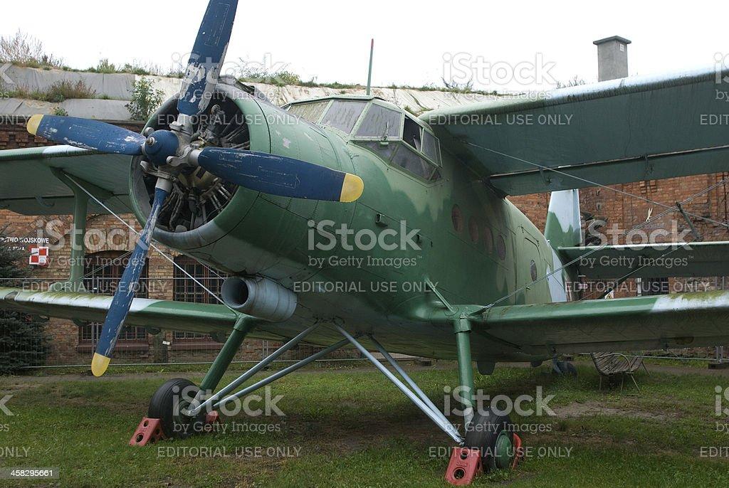 AN-2 aircraft, Warsaw, Poland royalty-free stock photo