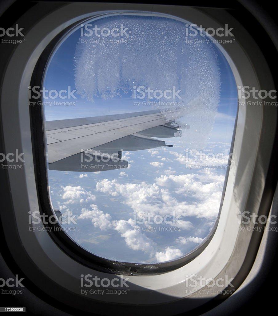 aircraft window royalty-free stock photo