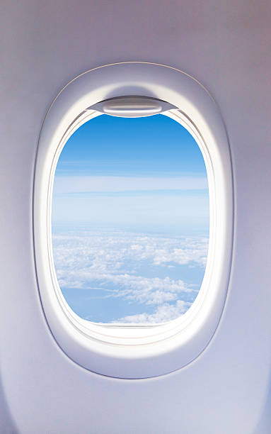 Aircraft Windows,airplane windows stock photo