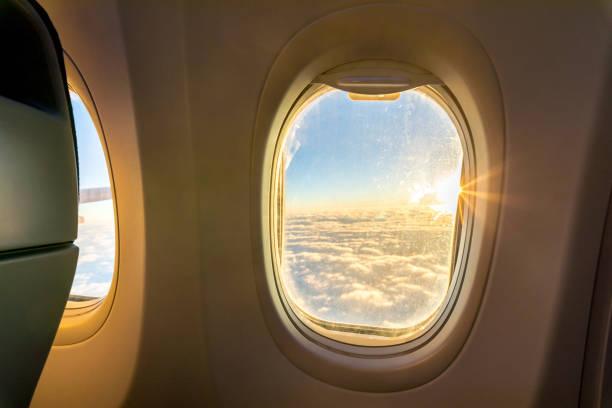 Aircraft Windows,airplane windows stock photo