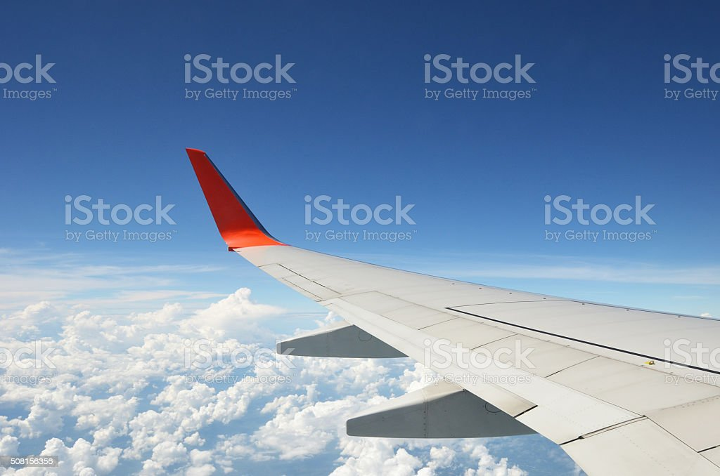 aircraft Wing stock photo