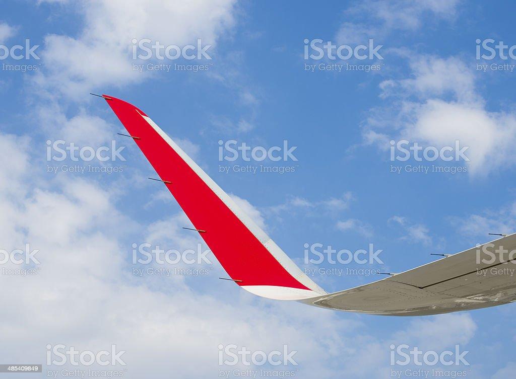 Aircraft winglet stock photo