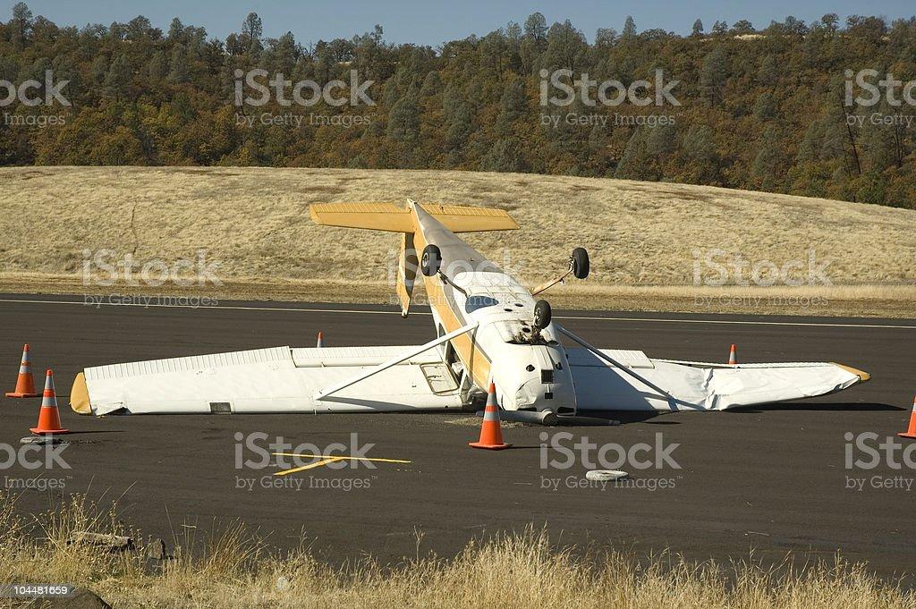 Aircraft wreck stock photo