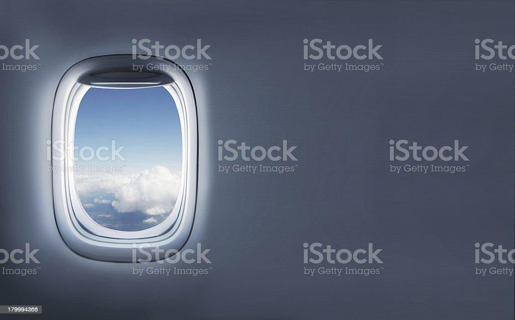 항공기 왜고너의 둥근 창 royalty-free 스톡 사진