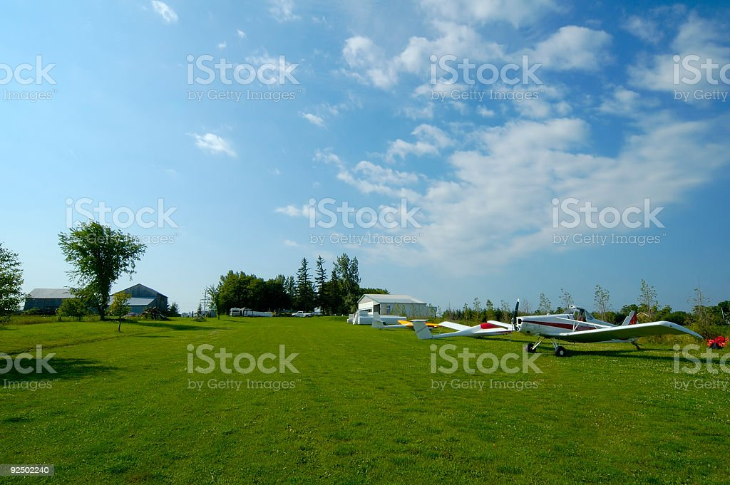 Airfield royalty-free stock photo