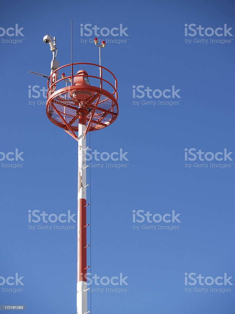 Airfield Tech Tower royalty-free stock photo