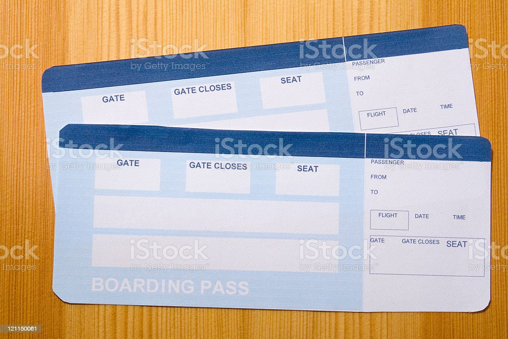 Airflight tickets royalty-free stock photo