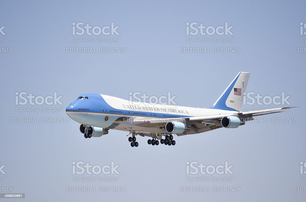 Airforce One royalty-free stock photo