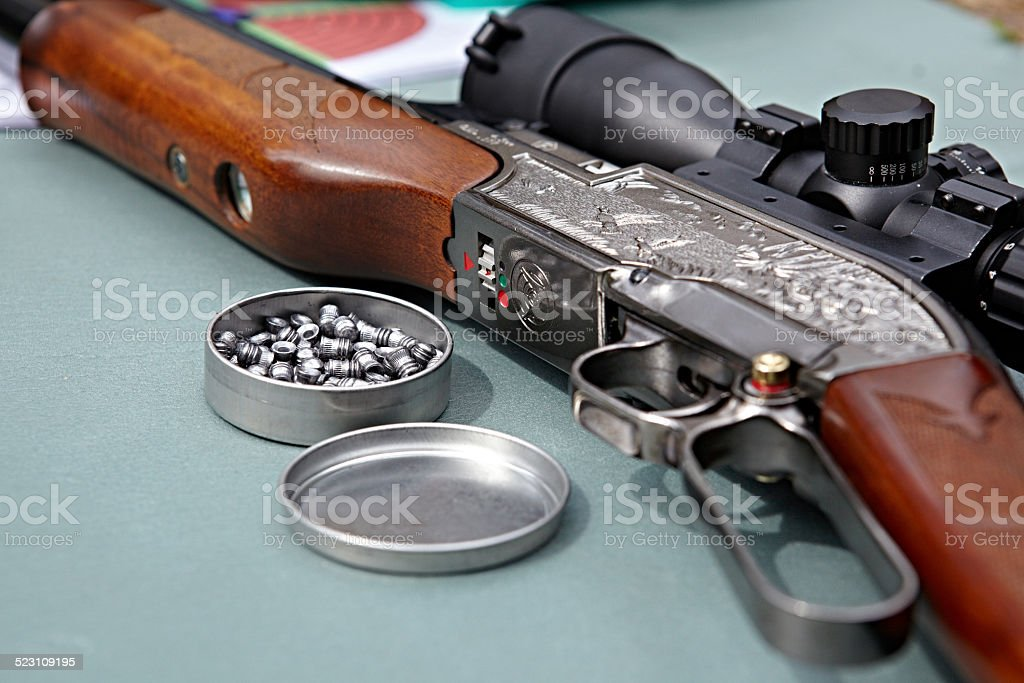 Airgun and bullets stock photo