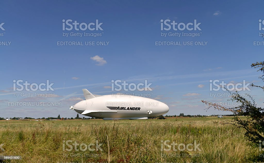 Airlander 10 cocept  Airship aircraft. stock photo