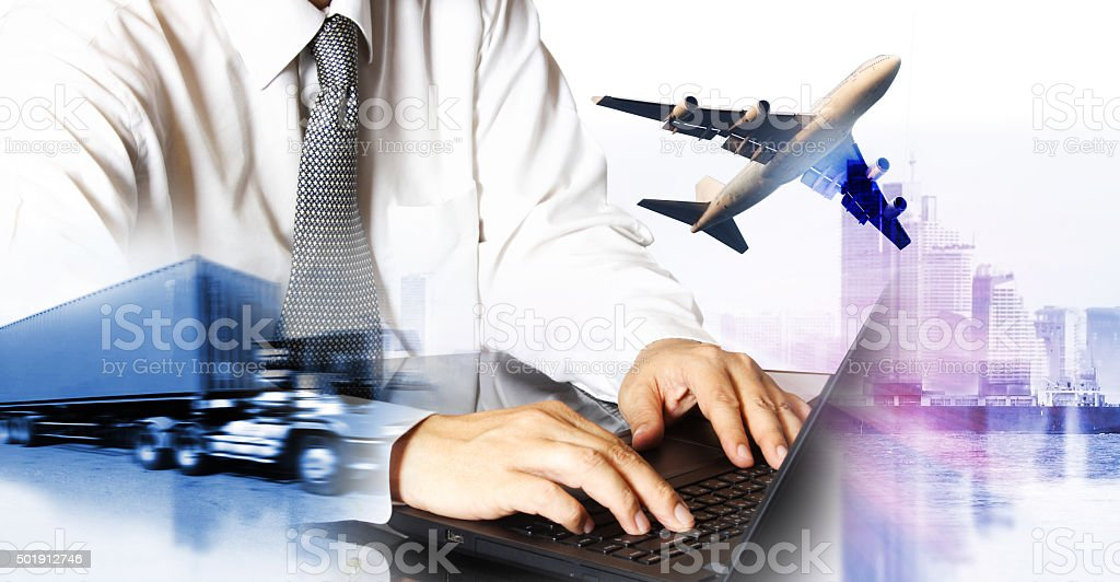 airline airplane flight path travel plans. stock photo