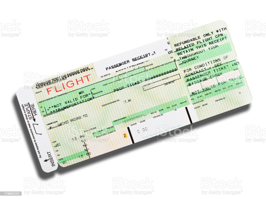 Airline boarding pass royalty-free stock photo