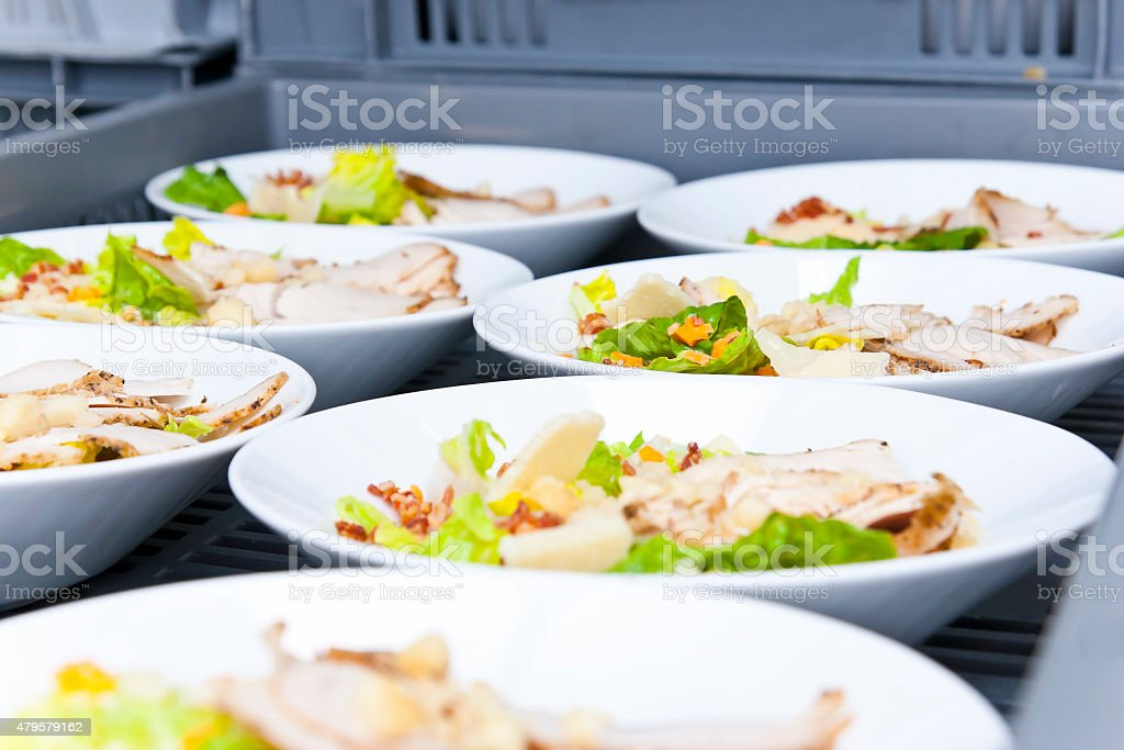 Airline Catering Meals stock photo