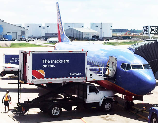 Airline catering truck stock photo