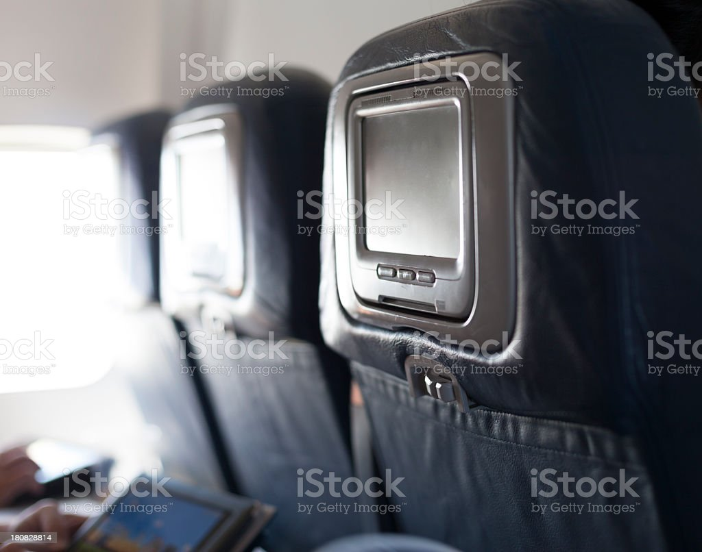 Airline Entertainment stock photo
