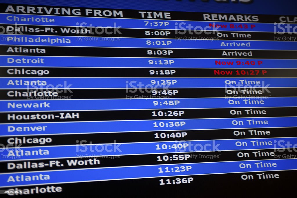 Airline Flight Schedule royalty-free stock photo