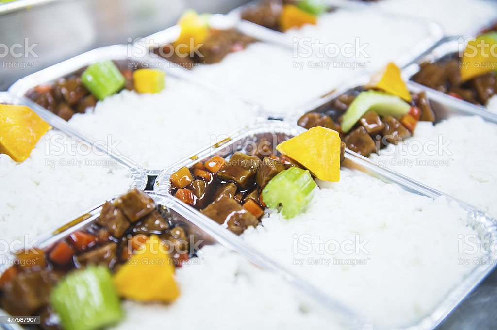 Airline Food stock photo
